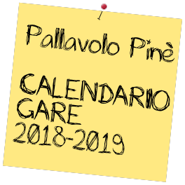 Post It Calendario GARE 2018 19