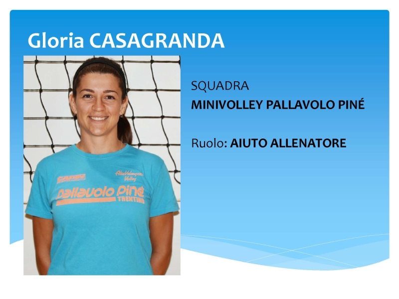 COACH Gloria CASAGRANDA MINIVOLLEY